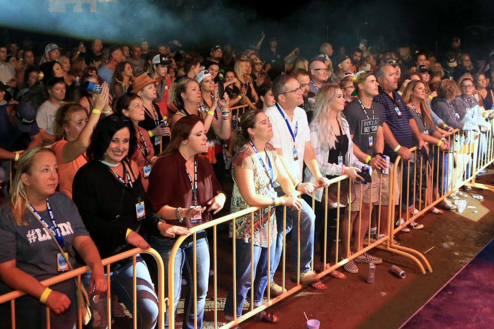 Crowd at LIVIN Music Festival